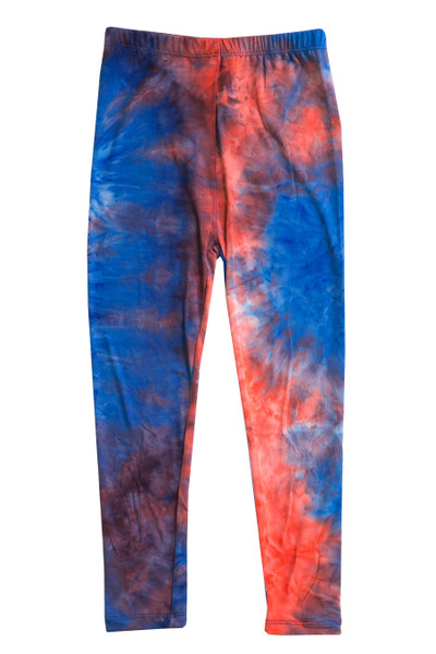 Wholesale Buttery Soft Red and Blue Kids Leggings