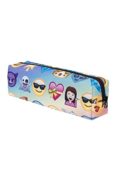 Emoji Characters Rectangular Graphic Print Cosmetics Case - 21 Styles