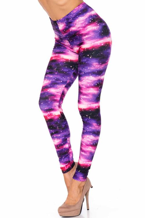 Wholesale Creamy Soft Purple Mist Extra Plus Size Leggings - 3X-5X - USA Fashion™