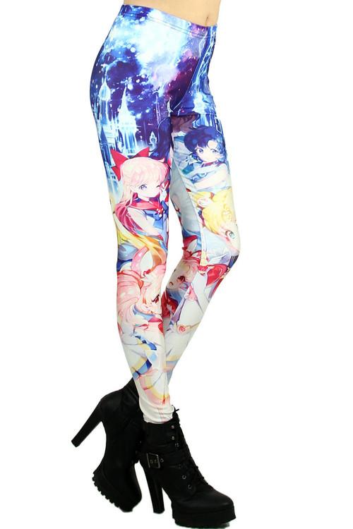 Wholesale Graphic  Sailor Moon and Friends Leggings