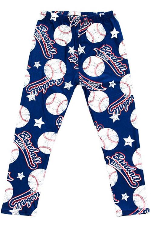 Wholesale Buttery Soft Major League Baseball Kids Leggings
