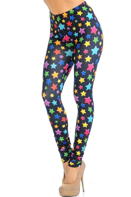 Wholesale Creamy Soft Colorful Cartoon Stars Leggings - Signature Collection