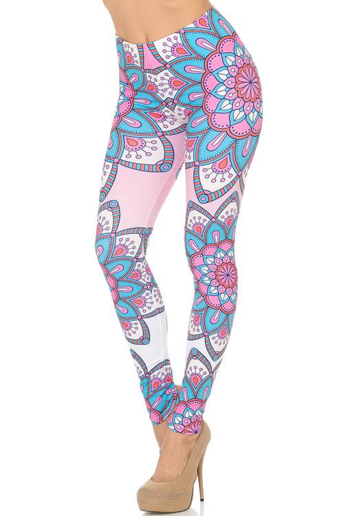 Wholesale Brushed Graphic Print Flatter Mandala Leggings
