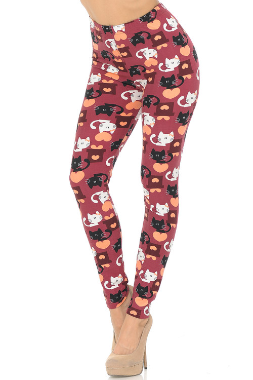 Wholesale Buttery Soft Lovable Kitty Cats Leggings