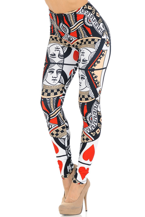 Wholesale Creamy Soft Queen of Hearts Extra Small Leggings - USA Fashion™