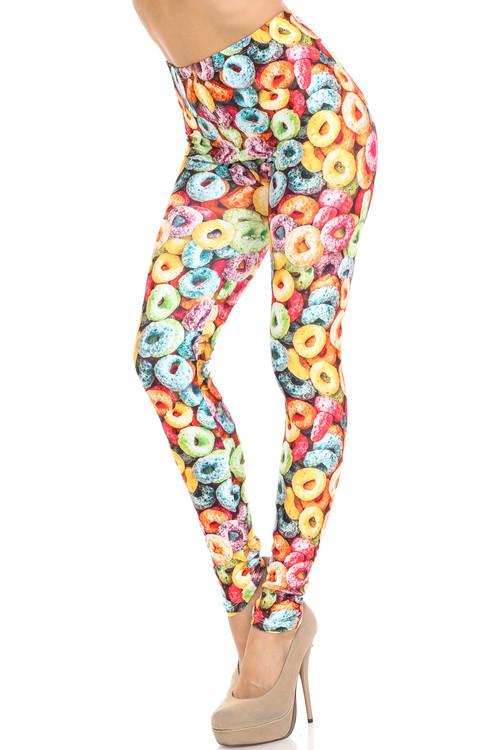 Wholesale Creamy Soft Colorful Cereal Loops Leggings - USA Fashion™