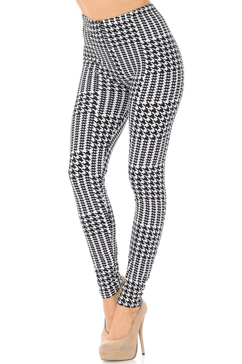 Wholesale Buttery Soft In Motion Houndstooth Plus Size Leggings