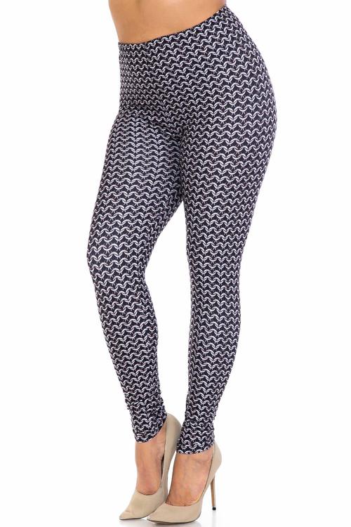 Wholesale Creamy Soft Chainmail Plus Size Leggings - USA Fashion™