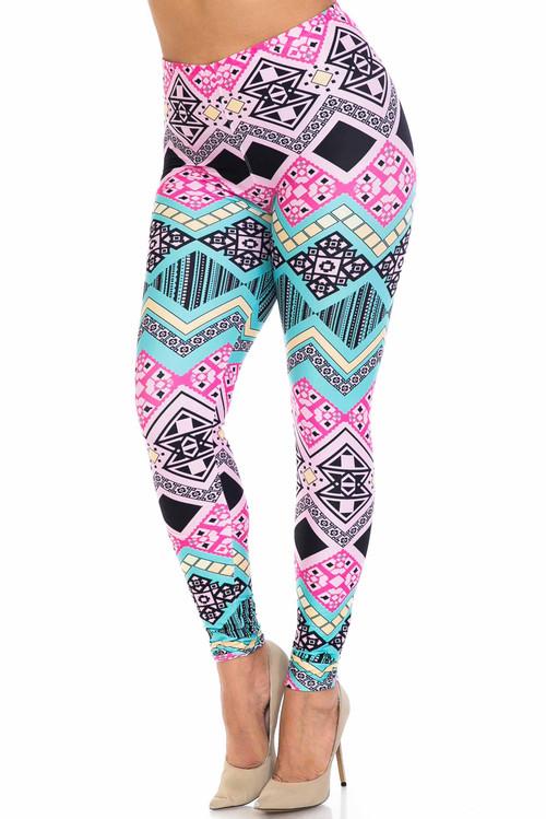 Wholesale Creamy Soft Tasty Tribal Plus Size Leggings - USA Fashion™