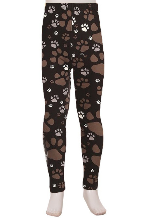 Wholesale Creamy Soft Muddy Paw Print Kids Leggings - USA Fashion™