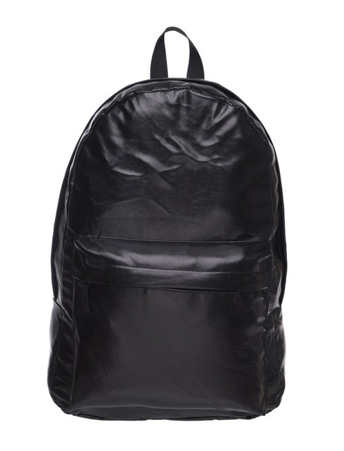 Wholesale Black Faux Leather Backpack