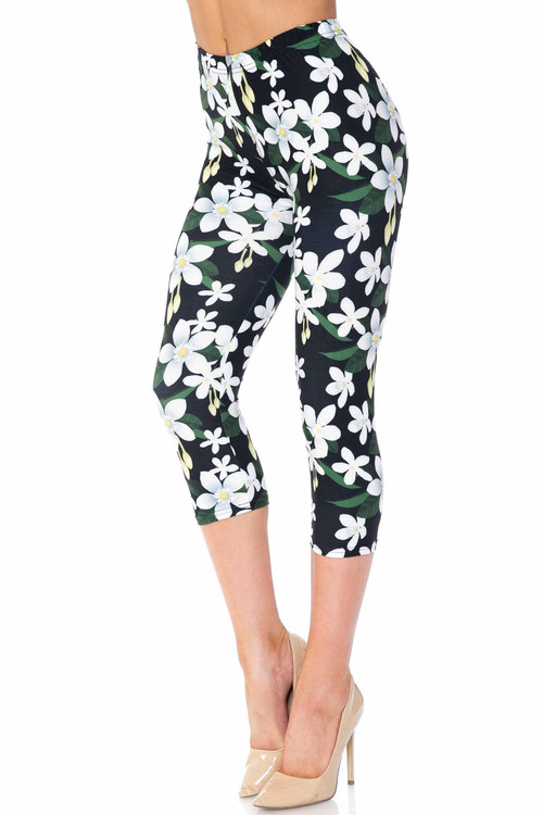Wholesale Creamy Soft Daisy Bloom Capris - USA Fashion™