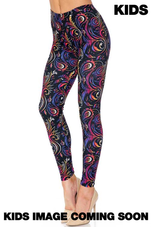 Wholesale Creamy Soft Ombre Paisley Swirl Kids Leggings - USA Fashion™