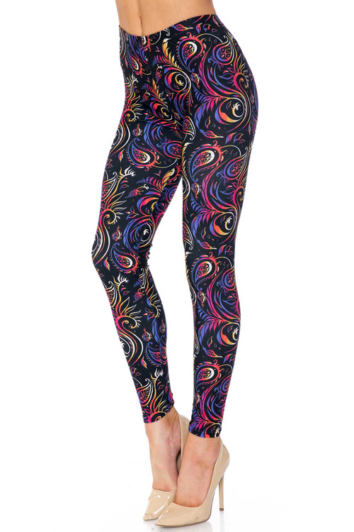 Wholesale Creamy Soft Ombre Paisley Swirl Plus Size Leggings - USA Fashion™