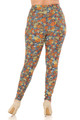 Wholesale Buttery Soft Charcoal Rose and Skulls Plus Size Leggings