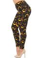 Buttery Soft Evil Halloween Pumpkins Extra Extra Plus Size Leggings - 3X-5X