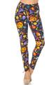 Wholesale Buttery Soft Halloween Medley Kids Leggings