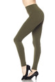 Wholesale High Waisted Fleece Lined Leggings - 5 Inch Waistband