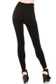 Back image of Wholesale Banded High Waisted Fleece Lined Leggings