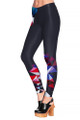 Left side leg image of DP-1487KDK - Wholesale Premium Graphic Leggings
