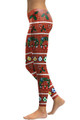 Left side leg image of DP-1042SKDK - Wholesale Premium Graphic Leggings