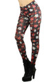 Side Image of P-4710 - Wholesale Made in the USA Graphic Print Leggings