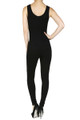 Back side image of Wholesale Women's Basic Cotton Jumpsuit