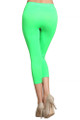 Back side image of Wholesale Capri Length Neon Nylon Spandex Leggings