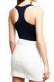 Back side  image of Wholesale Basic Nylon Spandex Bodysuit