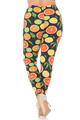 Wholesale Buttery Soft Plus Size Citrus Fruit Leggings