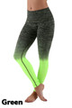 Green Wholesale Ombre Fusion Workout Leggings