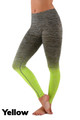 Yellow Wholesale Ombre Fusion Yellow Workout Leggings
