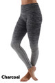Charcoal Wholesale Ombre Fusion Charcoal Workout Leggings