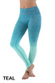 Teal Wholesale Ombre Fusion Workout Leggings