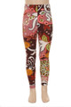Wholesale Buttery Soft Adorable Burgundy Motif Kid's Leggings