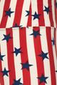 Wholesale Buttery Soft Vertical Stripes USA Flag High Waist Leggings