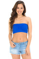 Wholesale Basic Seamless Padded Bandeau Plus Size Top