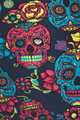 Wholesale Buttery Soft Red and Blue Sugar Skull Kids Leggings