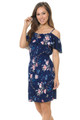 Wholesale Blue Flowing Floral Summer Dress