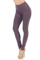 Wholesale Buttery Soft High Waisted Basic Solid Leggings - 3 Inch Waist