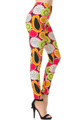 Wholesale Buttery Soft Colorful Tropical Fruit Leggings