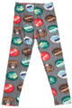 Wholesale Buttery Soft Groovy Bottlecap Kids Leggings
