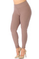 Wholesale Buttery Soft Basic Solid High Waisted Plus Size Leggings - 3X-5X - New Mix