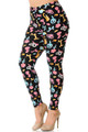 Wholesale Buttery Soft  Animal Balloon Plus Size Leggings - 3X-5X