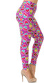 Wholesale Buttery Soft  Cartoon Fruit Plus Size Leggings - 3X-5X