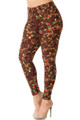 Wholesale Buttery Soft Christmas Holly Plus Size Leggings - 3X-5X