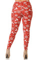 Wholesale Buttery Soft Jumping Reindeer Plus Size Leggings - 3X-5X