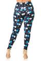 Wholesale Creamy Soft Comedy Tragedy Mask Plus Size Leggings