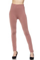Wholesale Fleece Lined Solid Leggings