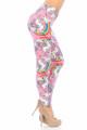 Wholesale Buttery Soft Pink Rainbow Unicorn Plus Size Leggings - 3X - 5X